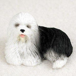 Old English Sheepdog Miniature Dog Figurine   Collectible Figurines