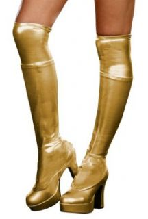 Dreamgirl 7797GDG Metallic Gold Boot Covers Clothing
