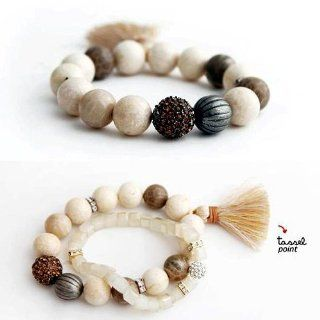 CY Buity Fashion Two Bracelet Stone Beads And Tassel Wirstband Lovely Girl Gift Birthday Jewelry