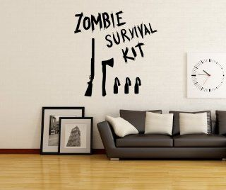 Stickerbrand Vinyl Wall Art Decal Sticker Zombie Survival Kit OS_MB983m   Wall Decor Stickers