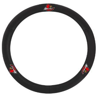 Pilot Automotive SWC 984 Leather Steering Wheel Cover with Louisville Collegiate Logo Automotive