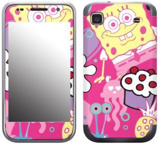 MusicSkins, MS SBOB40275, SpongeBob SquarePants   Sugar and Spice, Samsung Galaxy S 4G (SGH T959V), Skin Cell Phones & Accessories