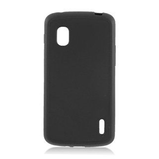 LG Nexus 4 E960 Black Hard Back Gel Sides Cover Case Cell Phones & Accessories