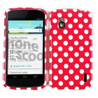 LG NEXUS 4 E960 DOTS ON HOT PINK TP CASE ACCESSORY SNAP ON PROTECTOR Cell Phones & Accessories