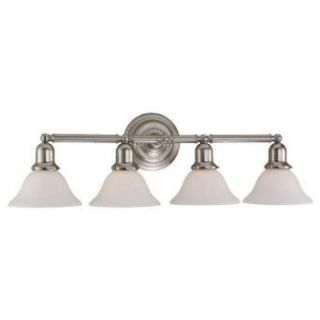 Sea Gull Lighting 44063 962 Sussex 4 Light Bathroom Vanity Light, Brushed Nickel   Vanity Lighting Fixtures