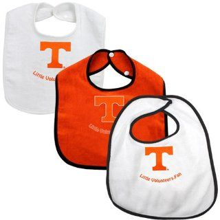 NCAA McArthur Tennessee Volunteers Infant 3 Pack Little Fan Bib Set   White/Tennessee Orange  Infant And Toddler Sports Fan Apparel  Sports & Outdoors