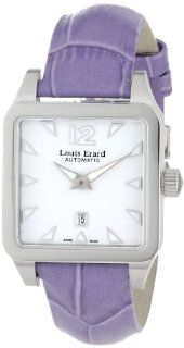 Louis Erard Women's 20700AA01.BDC63 Emotion Square Automatic Purple Leather Watch Watches