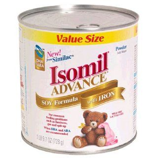 Isomil Advance Soy Formula Powder with Iron, Value Size, 25.7 Ounces (1LB 9.7oz) Health & Personal Care
