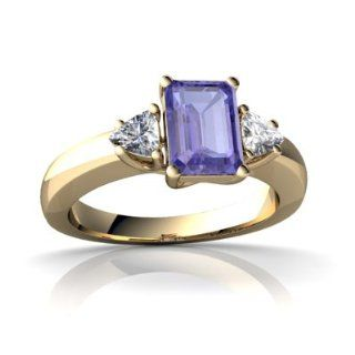 Genuine Tanzanite 14kt Yellow Gold timeless Ring Jewels For Me Jewelry
