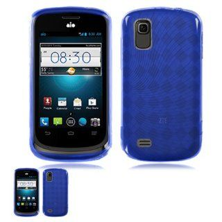 ZTE Prelude Z993 / Avail 2 Z992 Blue Flexible Gel Skin TPU Case Cell Phones & Accessories