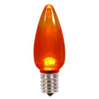 Club Pack of 25 Orange LED Transparent C9 Christmas Replacement Bulbs   Led Household Light Bulbs