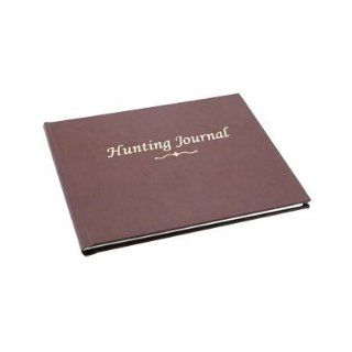 "BookFactory� Hunting Journal / Hunting Log Book / Notebook   96 Pages, Tan Bonded Leather Cover, Smyth Sewn Hardbound, 8 7/8"" x 7"" (JOU 096 CCR XT HUNT XTT44)  Record Books"