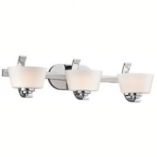 Kichler Lighting 45230CH Rise 3 Light Bath Fixture, Chrome with Satin Etched Cased Opal Glass   Vanity Lighting Fixtures