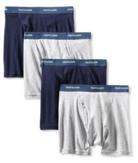 Fruit of the Loom Men's 4 Pack Low Rise Solid Boxer Brief at  Men�s Clothing store Underwear