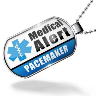 Dogtag Medical Alert Blue Pacemaker Dog tags necklace   Neonblond Jewelry