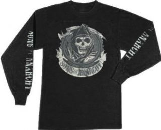 Sons of Anarchy Redwood Original Long Sleeve Black Adult T shirt Tee at  Men's Clothing store