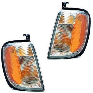 2000 2001 Nissan Xterra & 1998 1999 2000 Frontier Pickup Truck Park Corner Light Turn Signal Marker Lamp Pair Set Right Passenger AND Left Driver Side (1998 98 1999 99 2000 00 2001 01) Automotive
