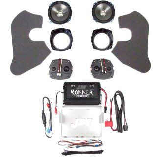 Hill Country Customs J&M ROKKER Series 2 Speaker and 250 Watt 2 Channel Amp Kit for 2006 2013 Harley Davidson Electra Street Glide   HC 250 ESG Automotive