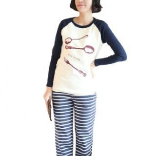 Pregnant Women Round Neck Spoon & Fork Pattern Autumn Shirt