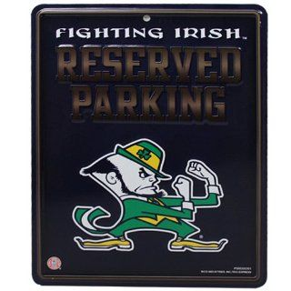 NCAA Notre Dame Fighting Irish 8.5'' x 11'' Metal Reserved Parking Sign  Business Card Holders