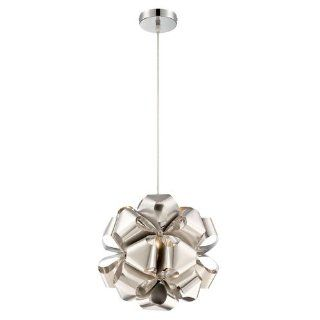 Alternating Current AC1111 Mini Pendant with Polished Stainless Steel Shades   Ceiling Pendant Fixtures