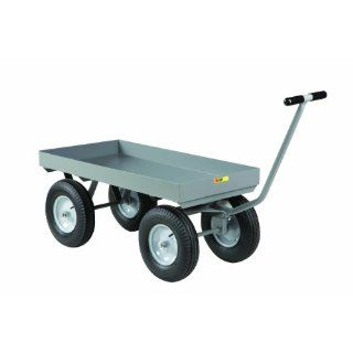 "Little Giant CH 2448 X3 16P Steel Heavy Duty Wagon Truck with 3"" Deep Lip Edge Deck, 3000 lbs Capacity, 48"" Length x 24"" Width Platform Trucks"