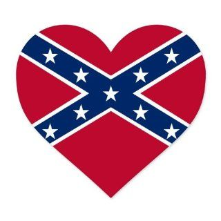 "Confederate Rebel Flag Heart car bumper sticker window decal 4"" x 4"" Automotive"