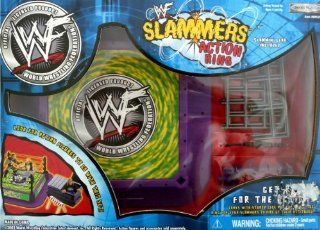 WWE WWF SLAMMERS ACTION RING, CAGE & TITLE BELT For 3 Inch Figures by Jakks Pacific Toys & Games
