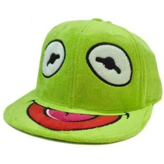 Muppet Babies Kermit Frog Green Jim Henson Furry Flat Bill Fitted 7 1/4 Hat Cap  Sports Fan Novelty Headwear  Sports & Outdoors