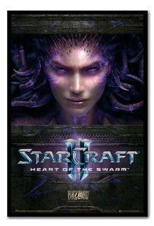 Iposters Starcraft 2 Heart Of The Swarm Poster Black Framed & Satin Matt Laminated   96.5 X 66 Cms (approx 38 X 26 Inches)   Prints