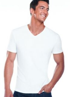 Jockey Men's T Shirts Slim Fit Cotton Stretch V Neck   2 Pack at  Men�s Clothing store