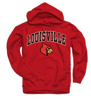 Louisville Cardinals Red Perennial II Hooded Sweatshirt  Sports Fan Sweatshirts  Sports & Outdoors