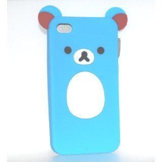 Blue Bear Design Soft Silicone Skin Gel Cover Case for Sprint At&t Verizon Apple Iphone 4 4s Gsm Cdma
