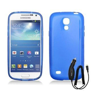 SAMSUNG GALAXY S4 MINI SOLID BLUE TPU RUBBER COVER SOFT GEL CASE + CAR CHARGER from [ACCESSORY ARENA] Cell Phones & Accessories
