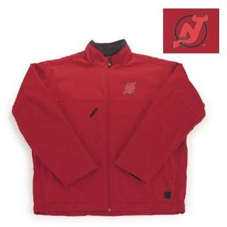 "New Jersey Devils NHL ""Explorer"" Fleece Jacket (Dk Red) (X Large)  Sports Fan Outerwear Jackets  Clothing"
