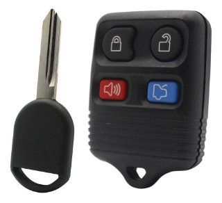 2000 00 Ford Taurus Keyless Entry Remote and Uncut Transponder Key Blade Automotive