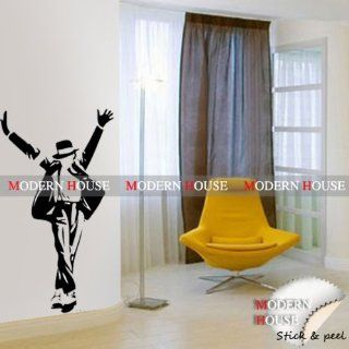 Modern House Michael Jackson Portrait removable Vinyl Mural Art Wall Sticker Decal   Wall Decor Stickers