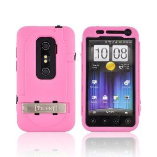 For HTC EVO 3D Pink Black OEM Trident Kraken AMS Hard Silicone Case Cover w Screen Protector Kickstand & Belt Clip KKN2 EVO 3D PK Cell Phones & Accessories