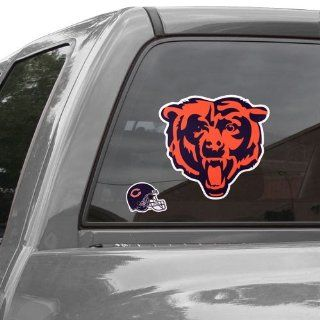 Chicago Bears Repositionable Logo Decal Set  Sports Fan Automotive Decals  Sports & Outdoors