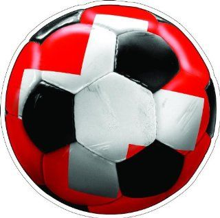 "4"" SWITZERLAND SOCCER BALL Printed vinyl decal sticker for any smooth surface such as windows bumpers laptops or any smooth surface."