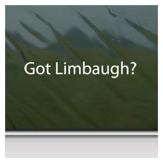 Got Limbaugh? White Sticker Decal Rush Conservative Gop White Car Window Wall Macbook Notebook Laptop Sticker Decal   Decorative Wall Appliques