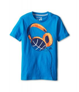 adidas Kids Phones Tee Boys T Shirt (Blue)