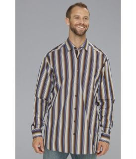 Tommy Bahama Big & Tall Big Tall Sherif Stripe L/S Shirt Mens Long Sleeve Button Up (Brown)