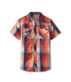 Lucky Brand Kids All American Woven Shirt Boys Short Sleeve Button Up (Red)