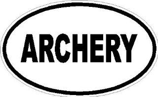 "2"" Archery euro oval printed vinyl decal sticker for any smooth surface such as windows bumpers laptops or any smooth surface."