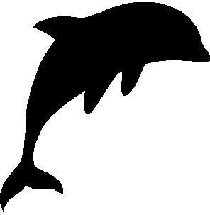 "2"" DOLPHIN BLACK reflective vinyl decal sticker for any smooth surface such as hard hats helmet windows bumpers laptops or any smooth surface."