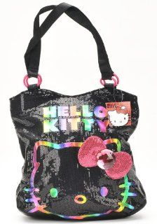 Sanrio Hello Kitty Sparkling Bling Bling Rainbow in the Dark Tote Bag and Hello Kitty Umbrella Set Toys & Games