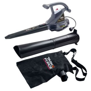 Task Force 12 Amp 380 CFM 235 MPH Medium Duty Corded Electric Leaf Blower with Vacuum Kit