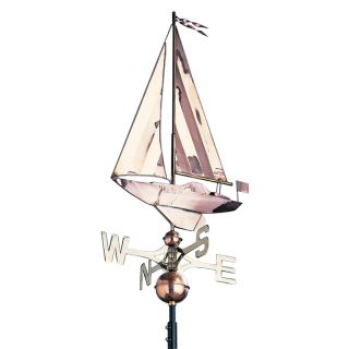 Whitehall 4 in x 19 ft x 49 in Unfinished Exterior Metal Copper Weathervane Accent