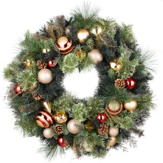 Holiday Living 30 in Unlit Decorated Douglas Fir Unlit Artificial Christmas Wreath